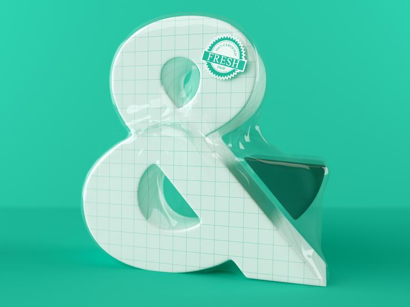 FRESH P&IE green blue coronarender corona octane octanerender logo 3d illustrator c4d branding illustration vector design