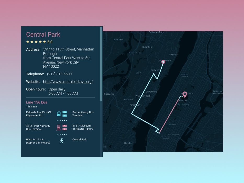 Daily UI Challenge #020 - Location Tracker by Diana Shelest
