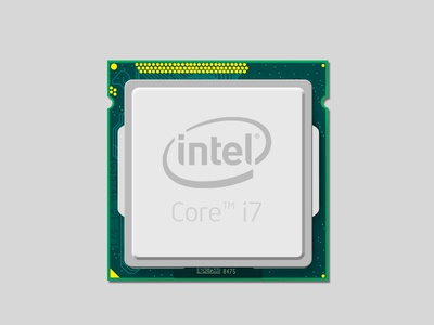 Intel Core i7 intel core i7 illustration icon ps cpu