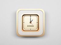 Dribbble Box Clock (c'mon rebound)