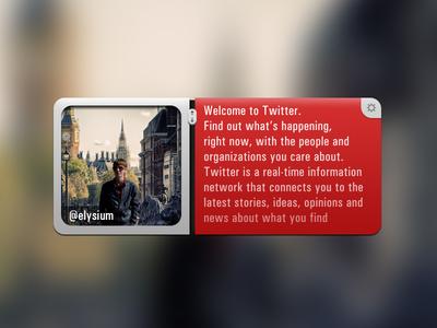 twitter (for fun) twitter widget scroll settings red