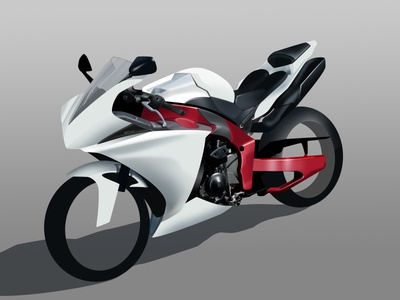 Bike (my best WIP) bike illustration ps only shapes drawing motorcycle