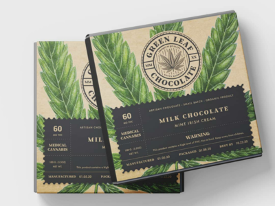 Green Leaf Chocolate Packing Design