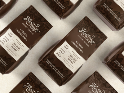 Heritage Cocoa Powder Label