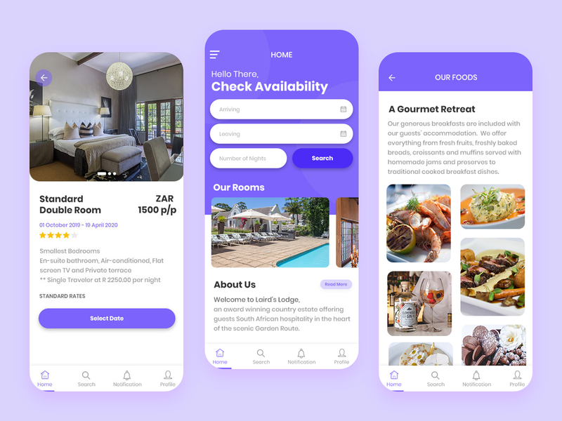 Booking Mobile App ui app ux design