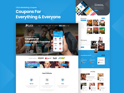 Coupon Landing Page web ux ui design