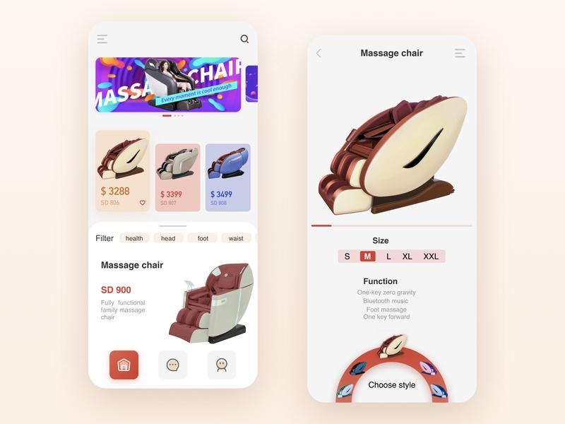 Massage chair e-commerce app