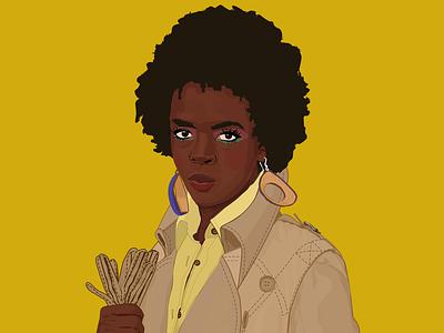 Ms. Lauryn Hill portrait illustration portrait 2018 fugeela thescore rap fugees miseducation hiphop lauryn hill