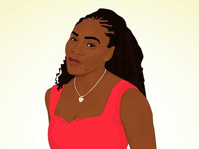 Serena Williams 2019 portrait sophisticated strong woman illustration venus serena us open tennis