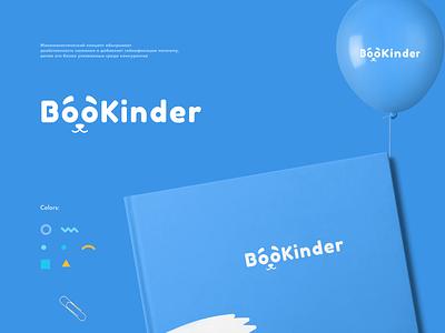 bookinder - logo design logos logo design logotype kinder books branding logo