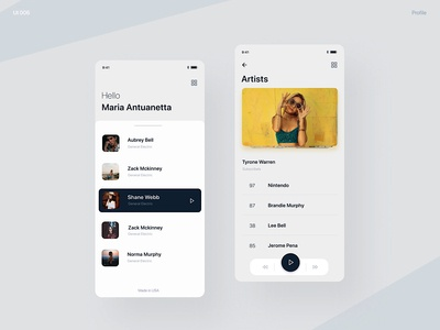 Media player - UI design
