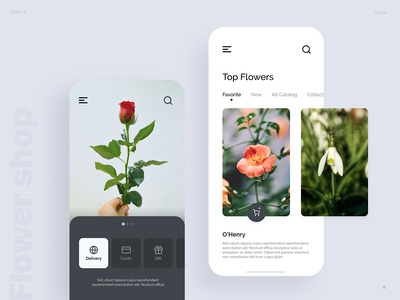 Flower shop - daily ui