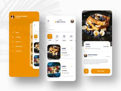cafeline app -  UI/UX
