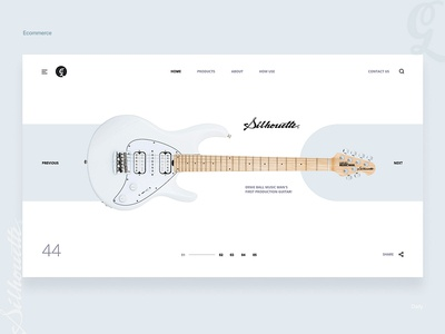 Product catalog - web page - music