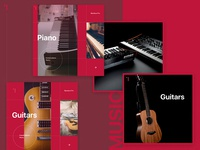 Music shop banners template