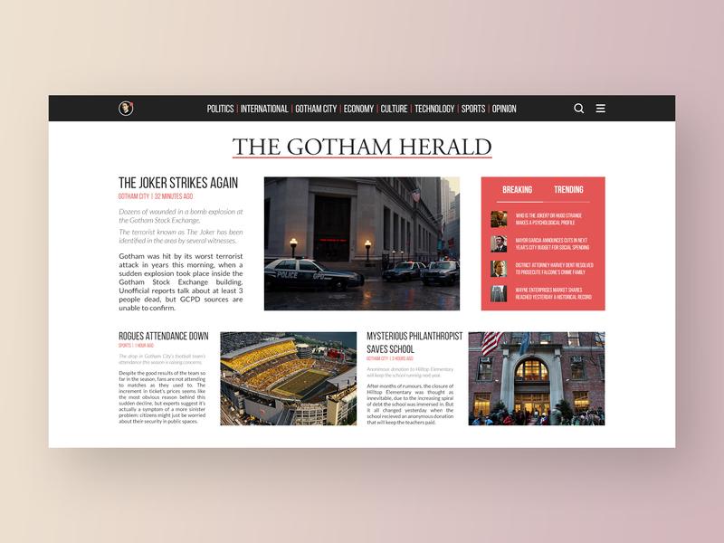Gotham Herald by Kevin M  Rodrigo on Dribbble