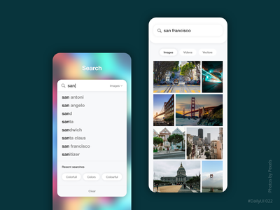 Search ux ui daily ui adobe xd app mobile dailyui photos find finder research