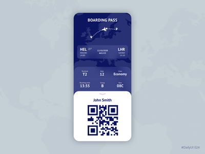 Boarding pass boarding pass airport airline flying ui ux daily ui ui ux app mobile adobe xd dailyui