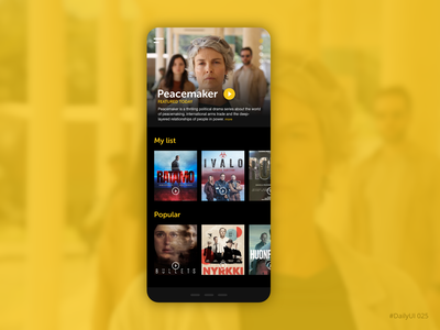 TV app streaming app hbo netflix tv daily ui ux ui ux ui app mobile dailyui adobe xd