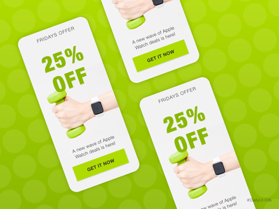 Special offers mobile banner daily ui dailyui offer special offer