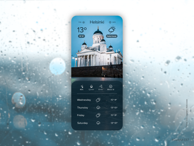 Weather app ux ui daily ui mobile app weather