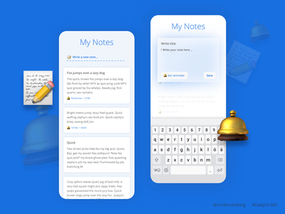 Notes widget design modern adobexd ui ux app mobile adobe xd dailyuichallenge daily ui dailyui notes notes widget
