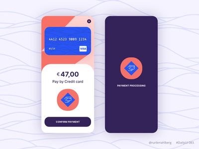 Button design for payment minimalist color modern trendy mobile app adobe xd daily ui dailyui payment button