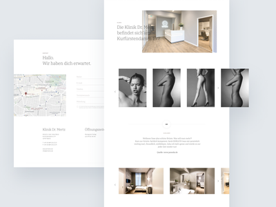 Plastic Surgery Website Redesign minimalism plastic surgery woman web typogaphy design user experience user interface web design ux ui