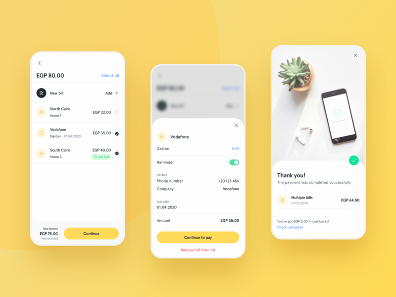 Bill payments Feature — Digital Wallet Mobile App
