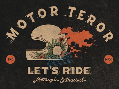 Let's Ride motor apparel design helmet design helmet motorcycle art motorcycle motorbike vintage design illustrator summer summertime digitalillustration vintage handdrawn tshirt design illustration design