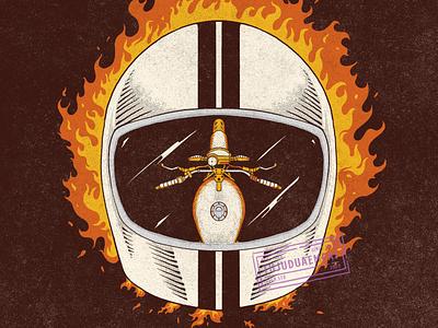 Burn on fireworks fire helmet helmet design illustrator comission vintage design digitalillustration vintage handdrawn tshirt design illustration design