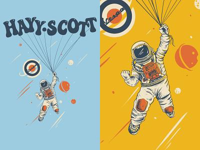 Astro Dreams vintage design digitalillustration vintage handdrawn tshirt design illustration design