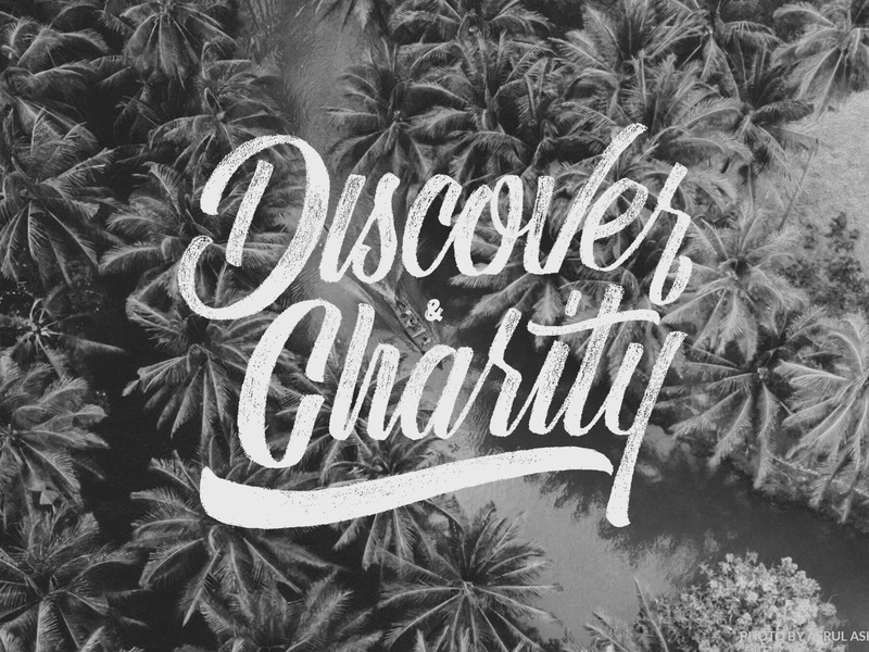 Discover And Charity design branding typography illustration