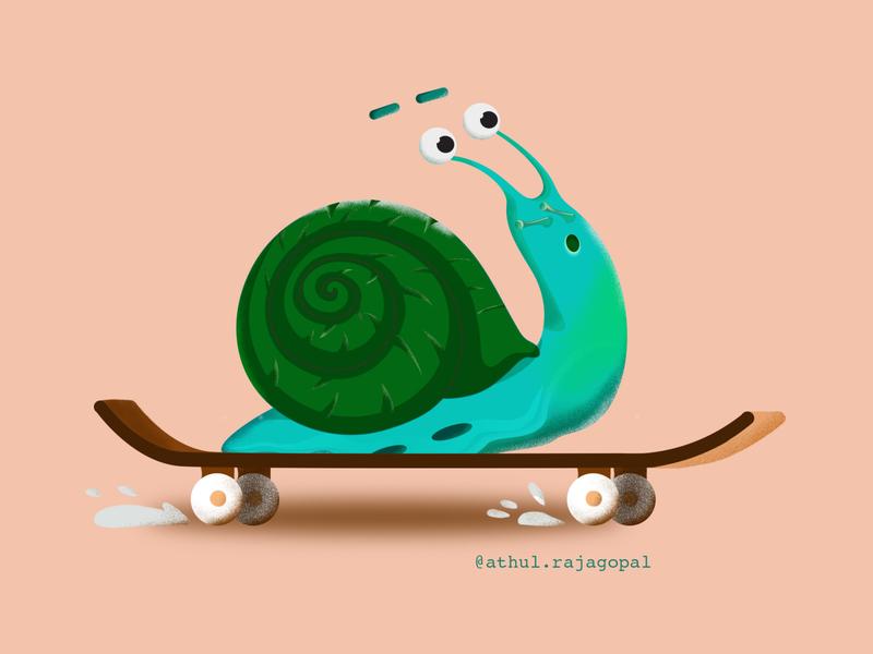 Skating Snail