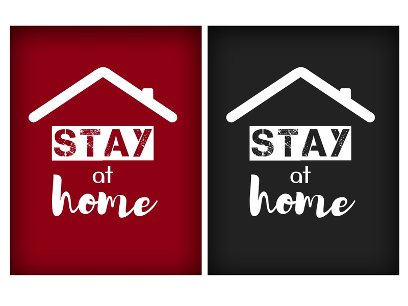 Social poster 'Stay at home'