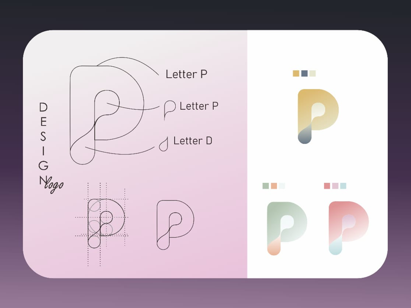 PDP company logo p coreldraw