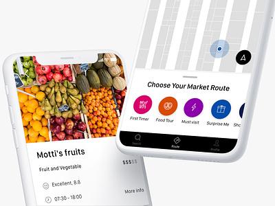 Market App market discover route colorful design app ui ux design