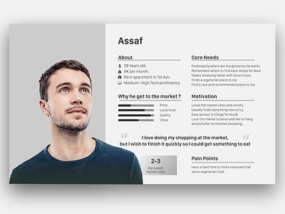 Persona clean design graphic  design adobe illustrator app market research ux ui design user card persona