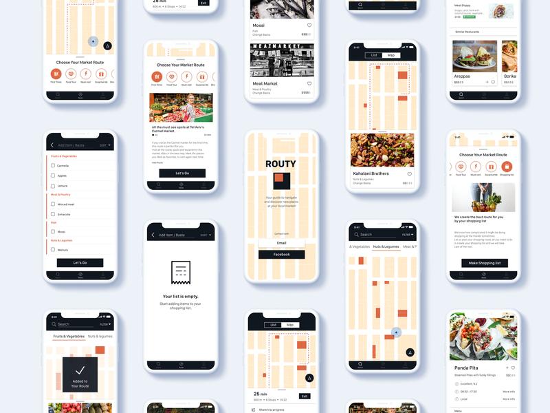 Meet Routy mock up dx navigate iphone x mobie app design ios market ui  ux design interaction design design
