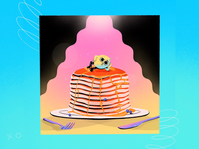 Pancake Day 2020 gradient illustration character dessert food illustration lemon shrove tuesday pancake