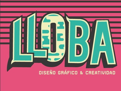 Lloba Design minimal design type vector typography illustration logo branding