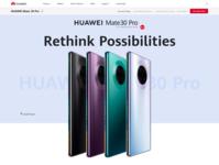 Huawei redesign landing page