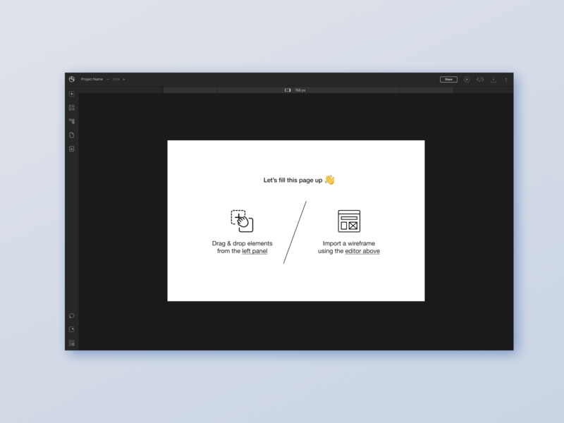 Initial screen on Platform redesign playground vector illustration responsive design web ux app ui design onboarding ui onboarding