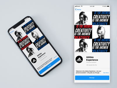 Chatbot for Facebook Messenger conversational ui design app ux messenger chatbot adidas