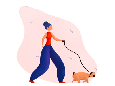 Walking with a pug