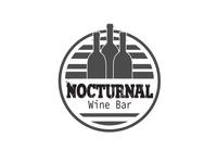 Nocturnal wine bar logo