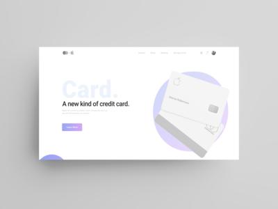 apple card website concept