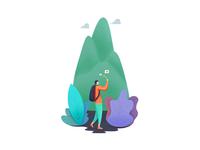 Travel sharing illustration