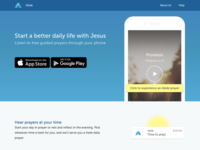 Abide christian prayer marketing mobile web