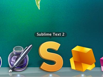 Sublime Text 2 Icon icon dock mac